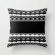 Throw Pillow featuring Skull Pattern by Borning Freaks