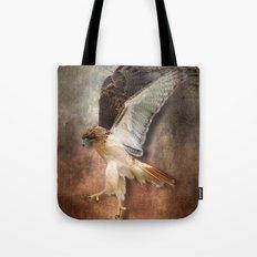 Red Tail Hawk In Vintage… Tote Bag