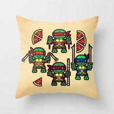 Teenage Mutant Ninja Turtles Pizza Party Throw Pillow