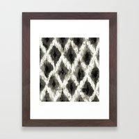 Ikat3 Framed Art Print