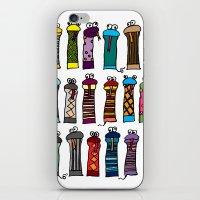 Slithery Socks iPhone & iPod Skin