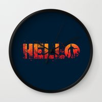 HELL-O Wall Clock