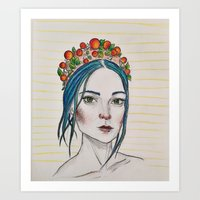 Berry Girl Art Print