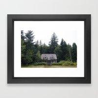 Woodland Cottage Framed Art Print