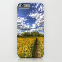 iPhone & iPod Case featuring Summers Day Farm by David Pyatt