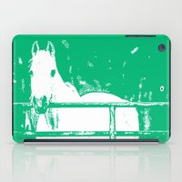 White Horse Forest Green iPad Case