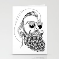 beard & sunglasses Stationery Cards