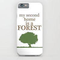 iPhone & iPod Case featuring My Second Home is a Forest by New Rustic Future