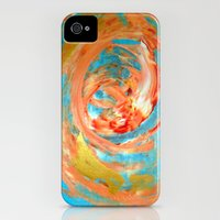 iPhone 4s & iPhone 4 Cases featuring Abstract (Koi Fish) by Jay Gonzales