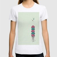 Ice Cream Diving  Womens Fitted Tee Ash Grey SMALL