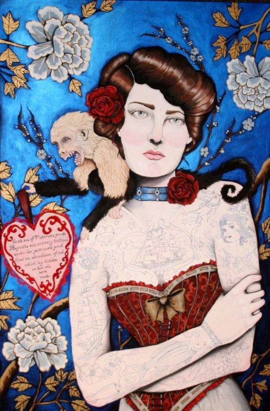 Augusta -- The Tattooed Lady Art Print