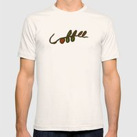 Coffee Branch Mens Fitted Tee Natural SMALL