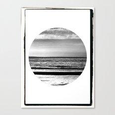 Black and White Beach Canvas Print