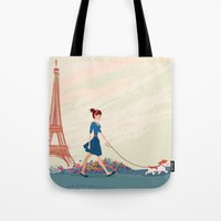 An Afternoon Stroll In P… Tote Bag