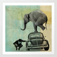 Looking For Tiny, Elepha… Art Print