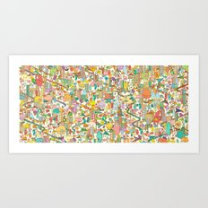 CREEPING ABOUT Art Print