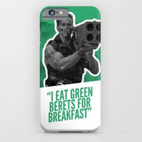 iPhone & iPod Case featuring Badass 80's Action Movie Quotes - Commando by Casa del Kables