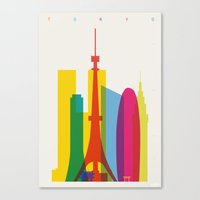 Shapes Of Tokyo. Accurat… Canvas Print