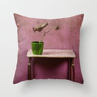 The colorful decay of plants Throw Pillow