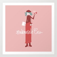 Mademoiselle Coco Art Print
