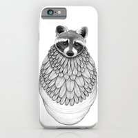 iPhone & iPod Case featuring Raccoon- Feathered by Jess Polanshek
