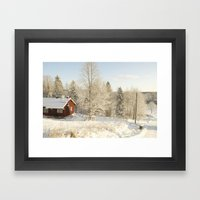 Finland in the winter #2 - Fiskars Artist Village  Framed Art Print