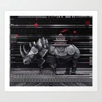 elegant rhinoceros Art Print
