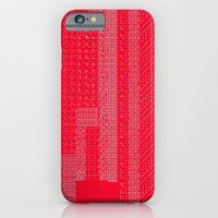 iPhone & iPod Case featuring White Over Red by allan redd