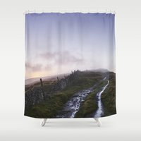 Mountain Path And Fence … Shower Curtain