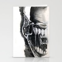 Alien Face. Stationery Cards