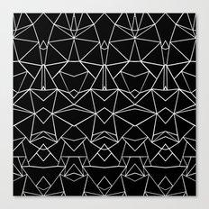 Ab Mirror Black Canvas Print