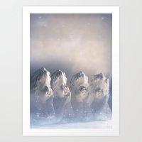 Angels For Christmas Art Print
