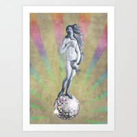 Disco Venus Art Print