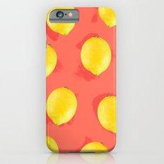 Watercolor Lemons Slim Case iPhone 6s