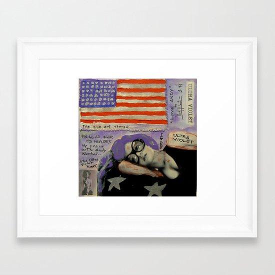 LOVE ANDY Framed Art Print