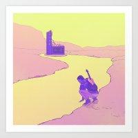 Rivergazer Art Print