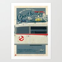 Ghostbusters Ecto-1 Trip… Art Print