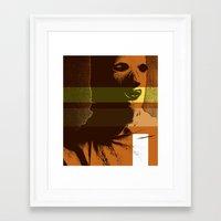 protezione Framed Art Print