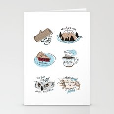 // twin peaks // Stationery Cards