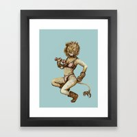 Lioness Fitness Framed Art Print