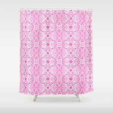 Hot Pink Lace Shower Curtain