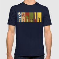 Assemble Mens Fitted Tee Navy SMALL