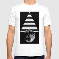 Moon Walk Mens Fitted Tee White SMALL