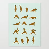 Yoga Bear! Canvas Print