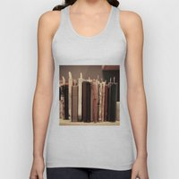 Old Books (brown) Unisex Tank Top