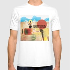 Summer is Gone White SMALL Mens Fitted Tee