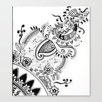 Henna Motif Canvas Print