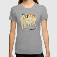 HEATHERS Womens Fitted Tee Tri-Grey SMALL