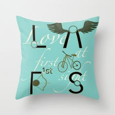 Love at First Sight and Bicycle Throw Pillow