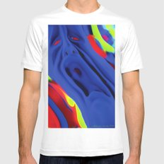 The Scream White SMALL Mens Fitted Tee